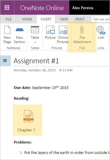 hints on using onenote5